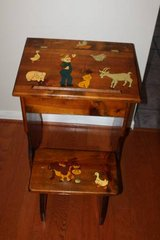 Vintage Hand Made Farmer and the Dell Toddlers Desk and Stool in Spring, Texas