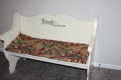 White Bench Perfect for Foot of Bed or Wherever in Conroe, Texas