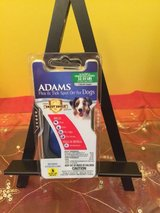 adams flea & tick spot on for dogs / puppies  32-55 pounds 1 month supply in Morris, Illinois
