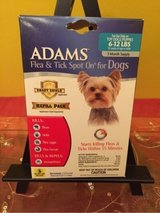 adams flea and tick spot on refill for  dogs small 6-12 lbs. 3 months in Morris, Illinois