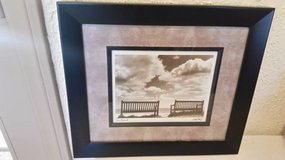 "New black frame wall print titled ""Two Friends"" in Camp Pendleton, California"