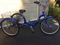Schwinn Meridian Adult 26-Inch 3-Wheel Bike (Blue) with Basket in Elgin, Illinois