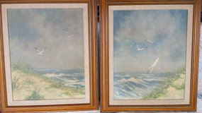 Vintage pre 1968 Thomas Pell Seascapes 2pc in 29 Palms, California