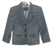 American Eagle Button Front Denim Jean Jacket Womens S/P Small Petite SP in Morris, Illinois