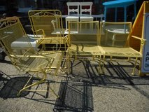 Mid Century Yellow Patio Loveseat in Sugar Grove, Illinois