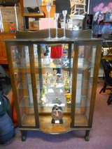 Antique Oak Display Cabinet in Elgin, Illinois