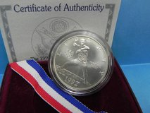 1992 u.s. olympic  silver dollar coin , unc. with coa ( baseball ) in Camp Lejeune, North Carolina