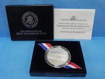 1992 united states white house 200th ann. silver dollar coin unc. with coa in Camp Lejeune, North Carolina