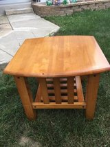 ~SOLID WOOD END TABLE~MISSION STYLE~ in Shorewood, Illinois