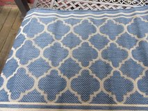 "Rug Safavieh Courtyard Blue and Beige Indoor/ Outdoor Runner (2'4"" x16 in New Lenox, Illinois"