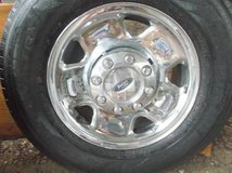 "OFFERS? Four 17"" Pirelli Tires, Rims, Wheel Covers and Center Caps, Ford 3/4 ton in Conroe, Texas"