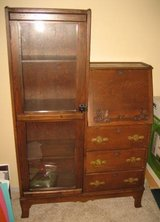 Antique Secretary with Multi-Shelf Cabinet - Oak - Unique in Wheaton, Illinois