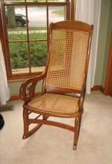 Vintage (maybe Antique) Rocking Chair with Cane Seat & Back in Wheaton, Illinois