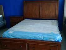QUEEN BED SET WITH NEW QUEEN PILLOW TOP in Camp Pendleton, California