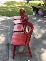 ASSORTMENT OF 4 RED CHAIRS in Warner Robins, Georgia