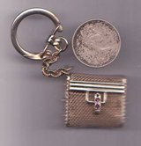 Old Gold Mesh Quarter Key Chain Purse German Two Saffire Rare Vintage in Temecula, California