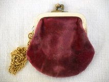 Antique Wrist Coin Purse Purple Velvet Lined exterior in Temecula, California