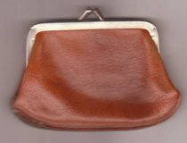 Brown Leather Coin Purse Made U.S.A Vintage in Temecula, California