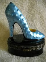 Glass Lady's High Heel Shoe Jewel Container Oval bottom Vintage in Lake Elsinore, California