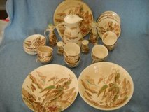 Nasco China Sayonara Pattern  Japan Pagoda Fishing Village Cream Set in San Diego, California