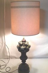 original antique chapman mfg co 1963 fruit plaster topiary lamp w/ shade tested  00977 in Huntington Beach, California