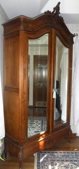 Antique 1800s 8'+ Large High End Wood Armoire / Wardrobe from France in Bolingbrook, Illinois