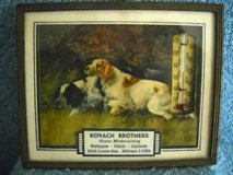1940 Painter Add on Thermometer Framed of Hunting Dogs Rare Vintage in San Diego, California
