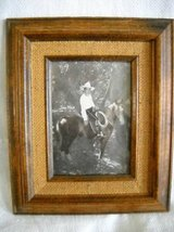 Western Print Of Tom Mix on his Horse. Limited Studio Give Away & Fram in Lake Elsinore, California