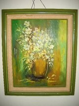 Vintage Painting Flower Decor 21+26  Signed by artist. Fantastic Fram in Lake Elsinore, California