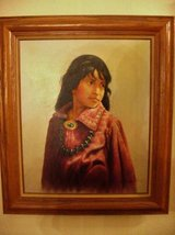 "Navajo Girl Painting Artist J.Roman  Fantastic Work 26""X 30"" Vintage in San Diego, California"
