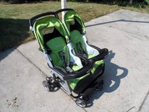 Peg Perego Aria Twin 60-40 Double Stroller in Bartlett, Illinois