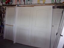 Double White Doors in Frames in Fort Riley, Kansas