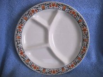 McNicol China Grill Plate Clarksburg W.Va. Rare has 4 sections Vintage in Lake Elsinore, California