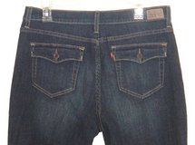 Levis 512 Perfectly Slimming Flap Pocket Boot Cut Jeans Womens 16 x 26 Short in Morris, Illinois