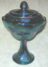 CARNIVAL GLASS - CANDY DISH WITH LID in Elgin, Illinois