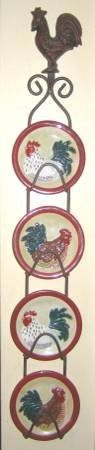 HANGING DISPLAY WITH CHICKEN PLATES in Elgin, Illinois