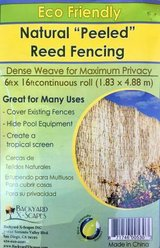 Backyard X-Scapes BIN-RF01 Peeled Reed Fencing - Fence 6' x 16' in Aurora, Illinois