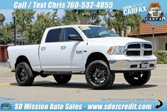 2017 Ram 1500 SLT White =LIFTED= WEEKEND DEAL ONLY = 13K miles in Vista, California