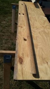 7ft Wooden Stair Rail with Brackets in Joliet, Illinois