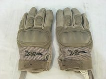 wiley-x desert tan large leather plastic knuckles combat assault tactical gloves  01315 in Huntington Beach, California