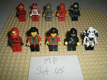 10 Lego Ninja Minifigs Group 65 in Yorkville, Illinois