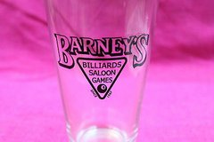 barney's billiards saloon bar pint glass in Kingwood, Texas