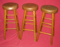 BAR STOOLS WITH PADDED SEATS - SET OF 3 in Elgin, Illinois