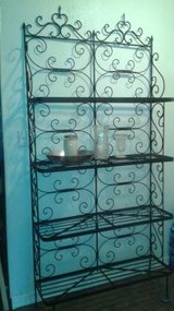 Iron Metal Scroll Shelf Unit in The Woodlands, Texas
