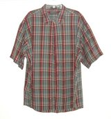 Van Heusen Plaid Madras Shirt w Pocket Mens XL 17 - 17-1/2 Green Blue Red Ivory in Chicago, Illinois