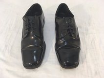 mens perry ellis america black 8.5  8 1/2 shined cap toe oxford dress shoes  01303 in Fort Carson, Colorado