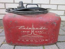 "Evinrude ""Cruis A Day"" Boat Fuel Tank Gas Can & Hose VINTAGE in St. Charles, Illinois"
