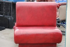 double sided single restaurant booth seating heavy duty red leather  80304 in Fort Carson, Colorado