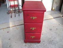 RED ALL WOOD 3 DRAWER DRESSER in Orland Park, Illinois