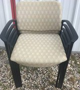 Chair, Beige Fabric  Black Molded Arm Rest  and Legs in Pasadena, Texas